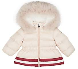 Moncler Infants' Clotilde Fur-Trimmed Down-Quilted Coat-Pink