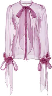 Marchesa Silk Organza Blouse