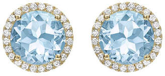 Kiki McDonough Grace Blue Topaz & Diamond Stud Earrings