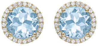 Kiki McDonough Grace Blue Topaz & Diamond Stud Earrings