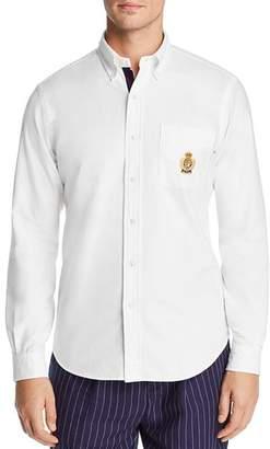 c4472a1d8d7 Polo Ralph Lauren Yale Embroidered Crest Slim Fit Oxford Button-Down Sport  Shirt - 100