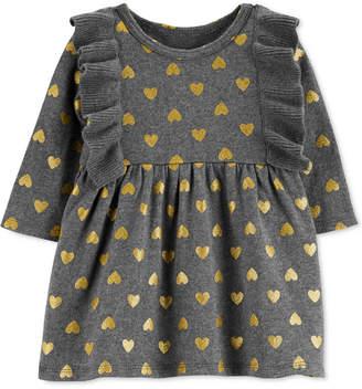 Carter's Baby Girls Cotton Heart-Print Sweater Dress