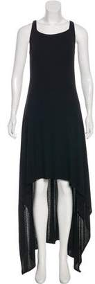 Christian Dior Greene Sleeveless High-Low Dress