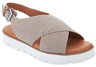 Kenneth Cole Gentle Souls by Gentle Souls Leather Cross Band Sandals -Kiki