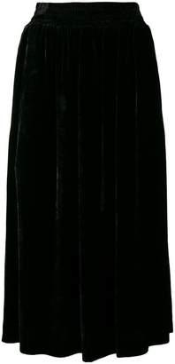 Golden Goose velvet midi skirt