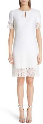 St. John Lace Trim Caris Knit Dress