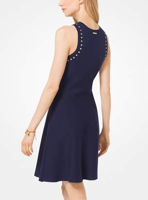 MICHAEL Michael Kors Studded Stretch-Viscose Dress