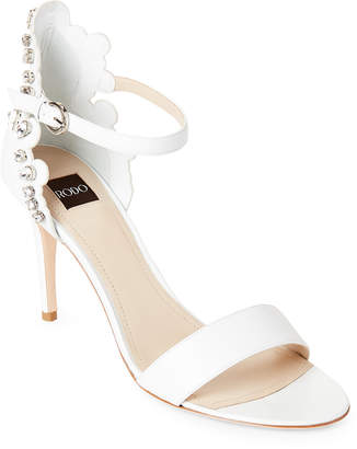 Rodo Crystal Embellished Leather Sandals