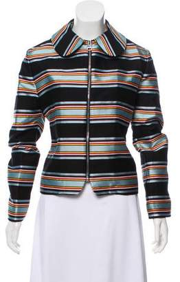 J.W.Anderson Striped Casual Zip-Up Jacket