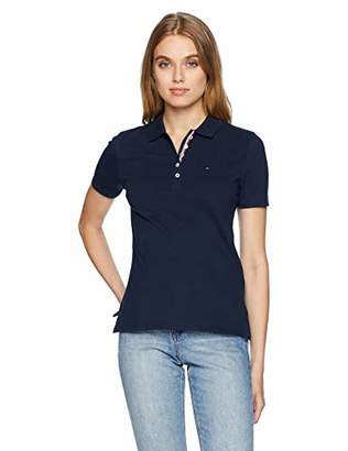 Tommy Hilfiger Tommy Jeans Women's Polo Shirt Original Flag Short Sleeves