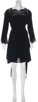 Fendi Silk Eyelet Dress