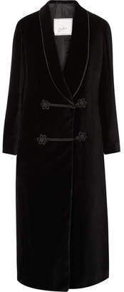 Giuliva Heritage Collection - Claudia Cotton-velvet Coat - Black