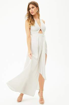 Forever 21 Front-Slit Halter Maxi Dress