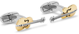 Paul Smith Guitar Gold And Silver-Tone Cufflinks