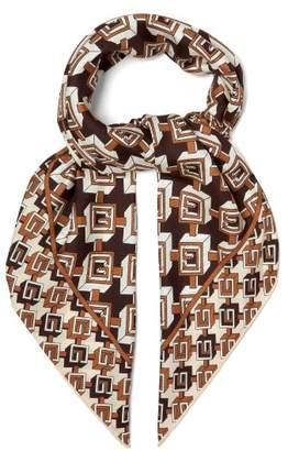 Gucci Geometric Logo Print Silk Twill Scarf - Mens - Multi