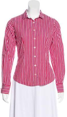 Thomas Pink Long Sleeve Button-Up Blouse