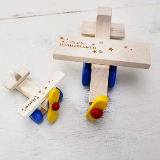 Natural Gift Store Personalised Wooden Plane