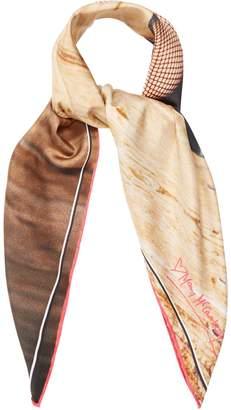 MARY MCCARTNEY Legs Eleven-print silk scarf