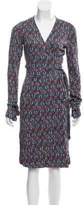 Diane von Furstenberg Abstract Print Silk Dress