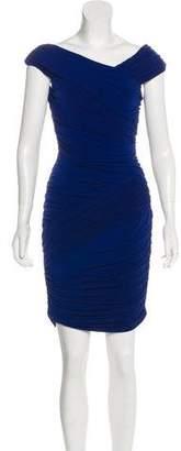 Nicole Miller Pleated Knee-Length Dress