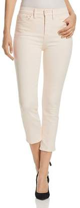 Tory Burch Mara Cropped Skinny Jeans in Ballet Pink