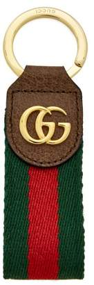 Gucci - Ophidia Tricolour Leather Keyring - Womens - Brown Multi