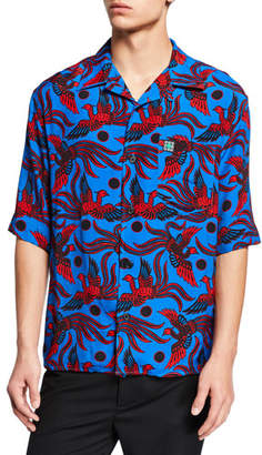 Kenzo Men's Phoenix Short-Sleeve Shirt