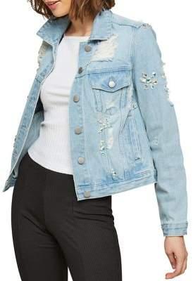 Miss Selfridge Embellished Denim Jacket