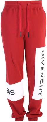 Givenchy Red Branded Sweatpants