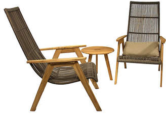 One Kings Lane Natural Wicker Lounge Chairs - Set of 2