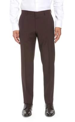 BOSS Genesis Flat Front Check Wool Trousers