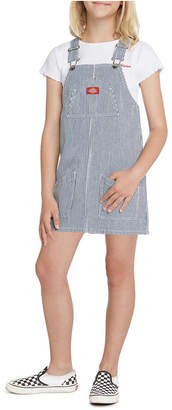 Dickies Big Girls Overall Hickory Striped Dress