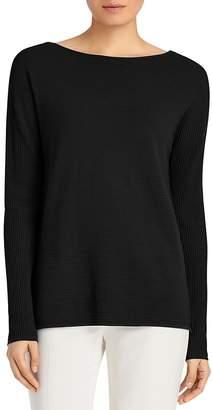 Lafayette 148 New York Ribbed V-Back Sweater