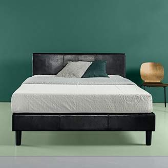 Zinus Faux Leather Upholstered Platform Bed with Wooden Slats