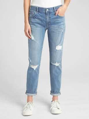 Gap Mid Rise Best Girlfriend Jeans in Distressed