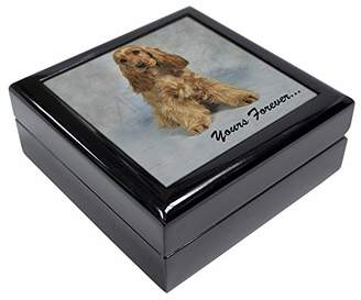 Apricot Cocker Spaniel 'Yours Forever' Keepsake/Jewellery Box Christmas Gift