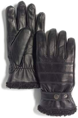Marron Urban Jungle Yukon Faux Shearling Leather Gloves