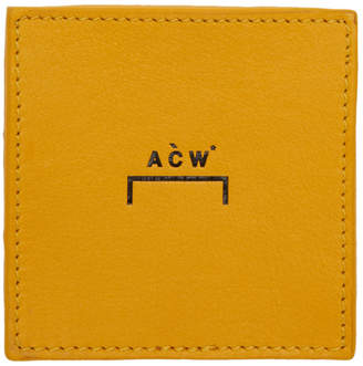 A-Cold-Wall* A Cold Wall* Yellow Leather Coin Wallet