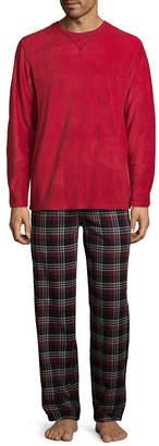 Izod Mens Pant Pajama Set 2-pc. Long Sleeve