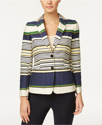 Tommy Hilfiger Three-Pocket Striped Blazer $149 thestylecure.com