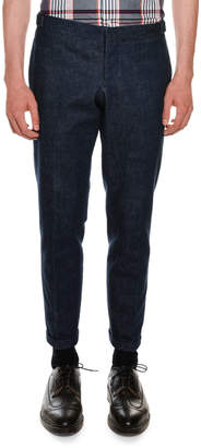 Thom Browne Unconstructed Washed Denim Pants
