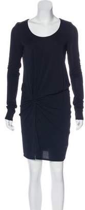 Halston Long Sleeve Scoop Neck Dress