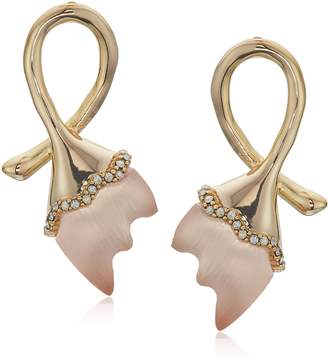 Alexis Bittar Abstract Tulip Stud Post Earrings with Lucite