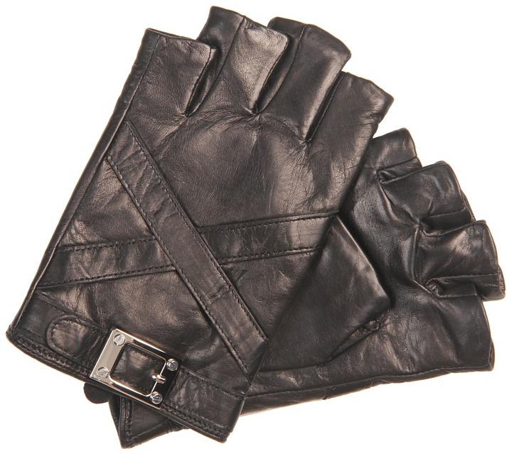 Rachel Zoe Fingerless Glove with Cross-Strap (Black) - Accessories