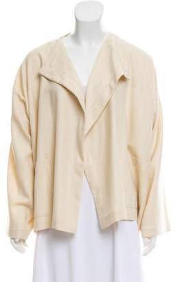 eskandar Wool Open Front Jacket