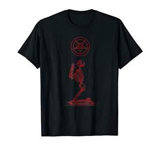 Praying Skeleton Satanic Shirt - Satanic Pentagram
