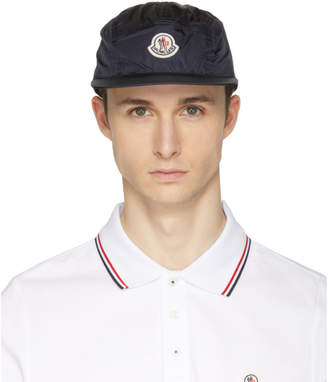 Moncler Navy Five-Panel Logo Cap
