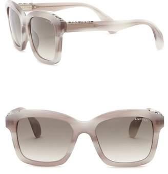 Lanvin 52mm Swarovski Crystal Accented Square Sunglasses