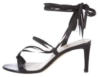 Saint Laurent Leather Lace-Up Sandals