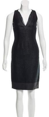Fendi Textured Knee-Length Dress